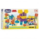 Jucarie Chicco App set 40 piese constructie 2D Ferma animalelor