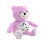 Jucarie cu proiectie Chicco Ursuletul bebelus roz 0luni+