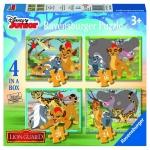 Puzzle Garda Felina 4 buc in cutie 12/16/20/24 Piese