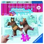 Puzzle Masha Si Ursul 12 Piese rezistente la apa