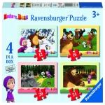 Puzzle Masha Si Ursul 4 Buc In Cutie 12/16/20/24 Piese