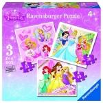 Puzzle Printesele Disney 3 Buc in cutie 25/36/49 Piese
