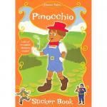 Carte de colorat cu stickere Pinochio
