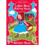 Carte de colorat cu stickere Scufita Rosie