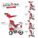 Tricicleta Smart Trike Dazzle 5 in 1 Red White