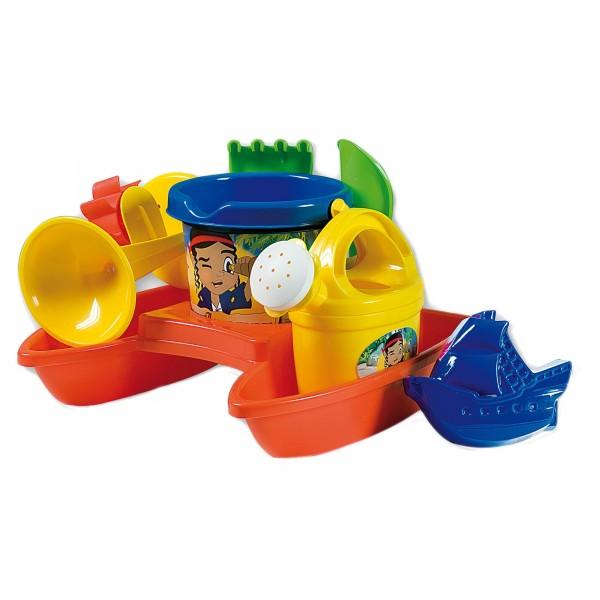 Barcuta plastic Androni Aventuri cu pirati Catamaran plaja cu stropitoare si morisca si alte accesorii