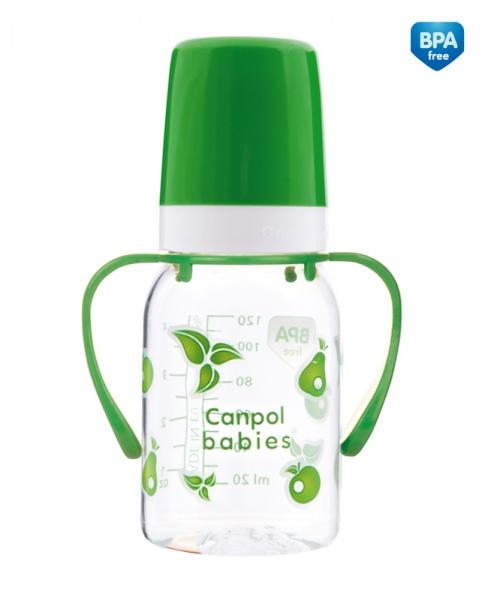 Biberon 120 ml cu maner BPA 0