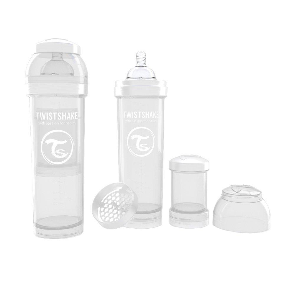 Biberon anti-colici 330 ml Twistshake Alb