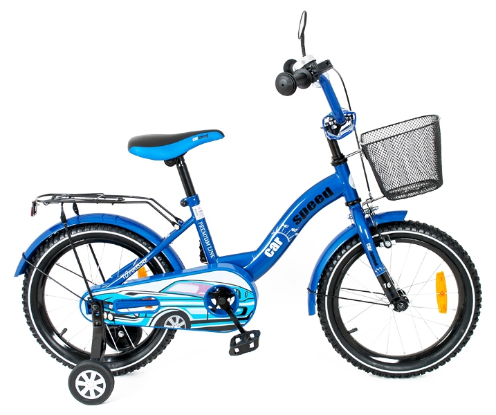 Bicicleta copii Toma Car Speed Blue 16