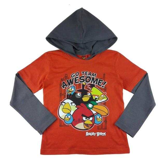 Bluza maneci lungi Angry Birds rosu (Masura 140 (9-10 ani))