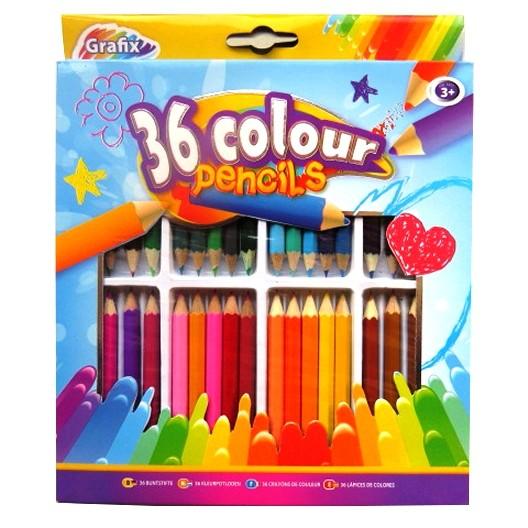 Set 36 Mini creioane colorate
