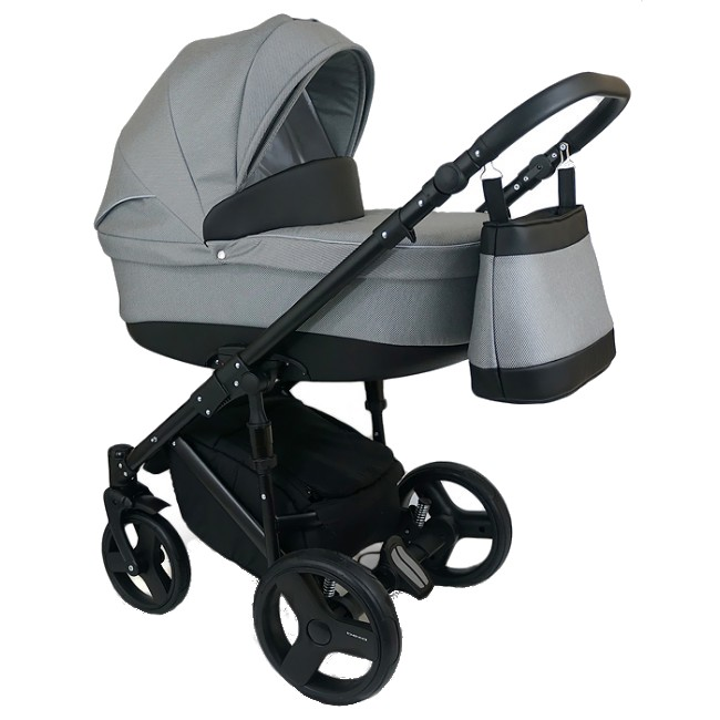 Carucior Copii 3 In 1 Bexa Dangela Grey Black