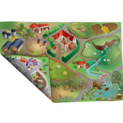 Covoras De Joaca Imprimeu Dublu Ecomat - Ferma Si District
