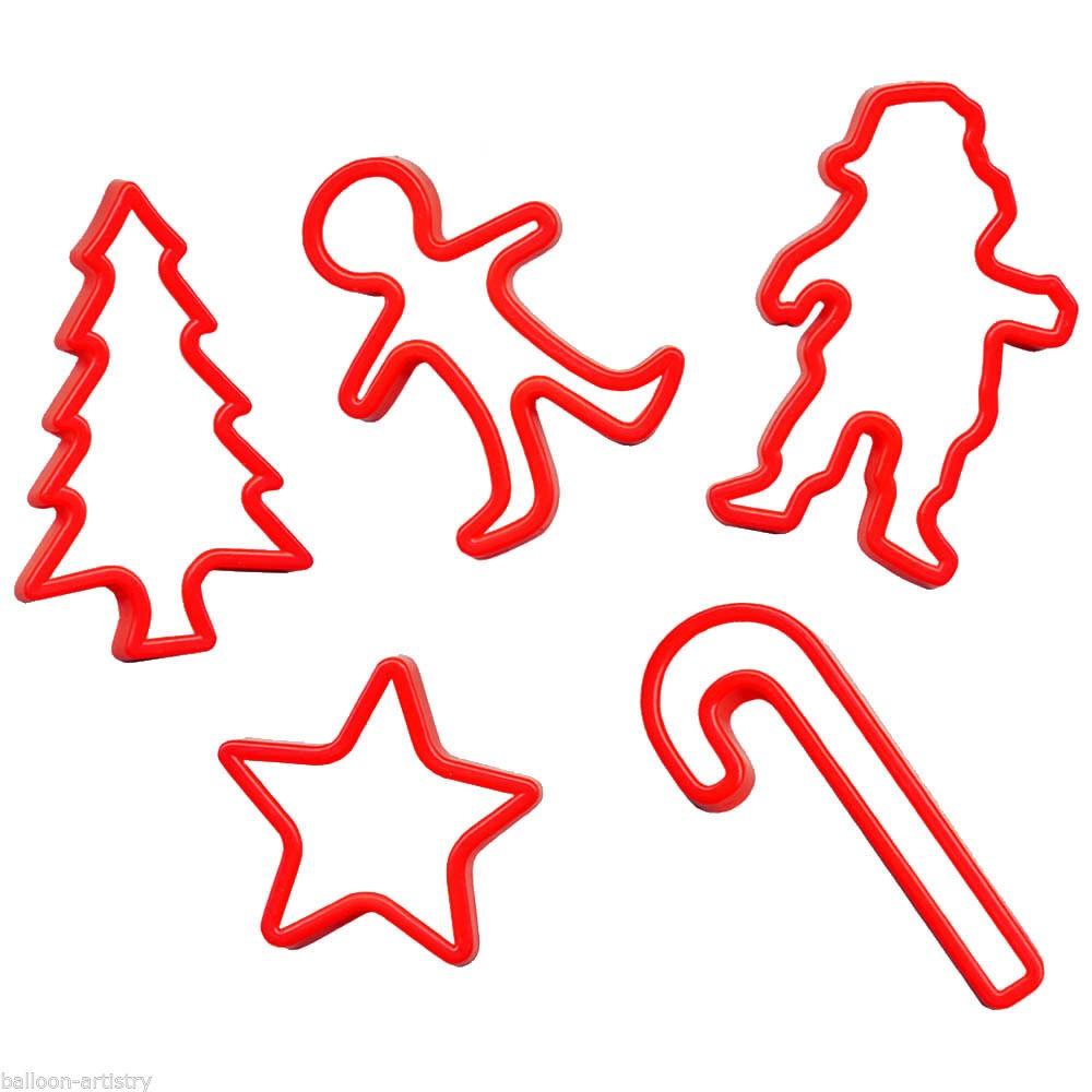 Forme pentru biscuiti si fursecuri, Craciun, Amscan 34930, set 5 buc