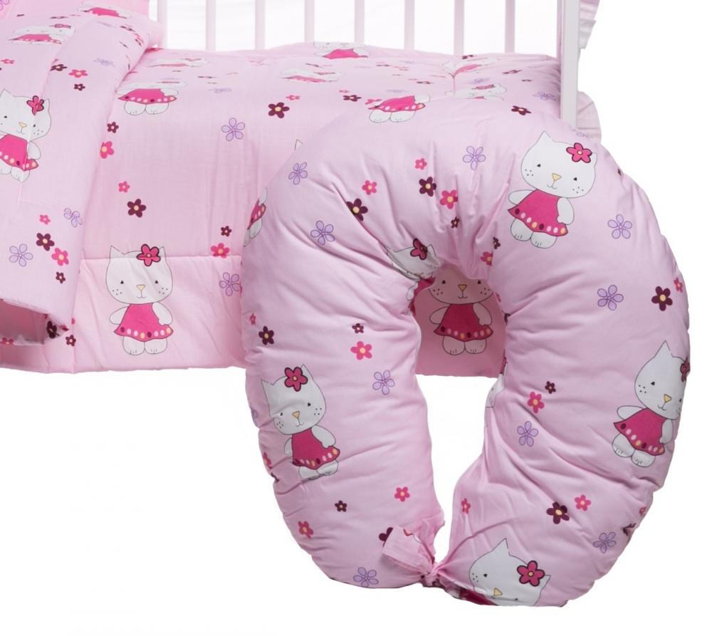 Lenjerie patut cu 10 piese Kitty Pink