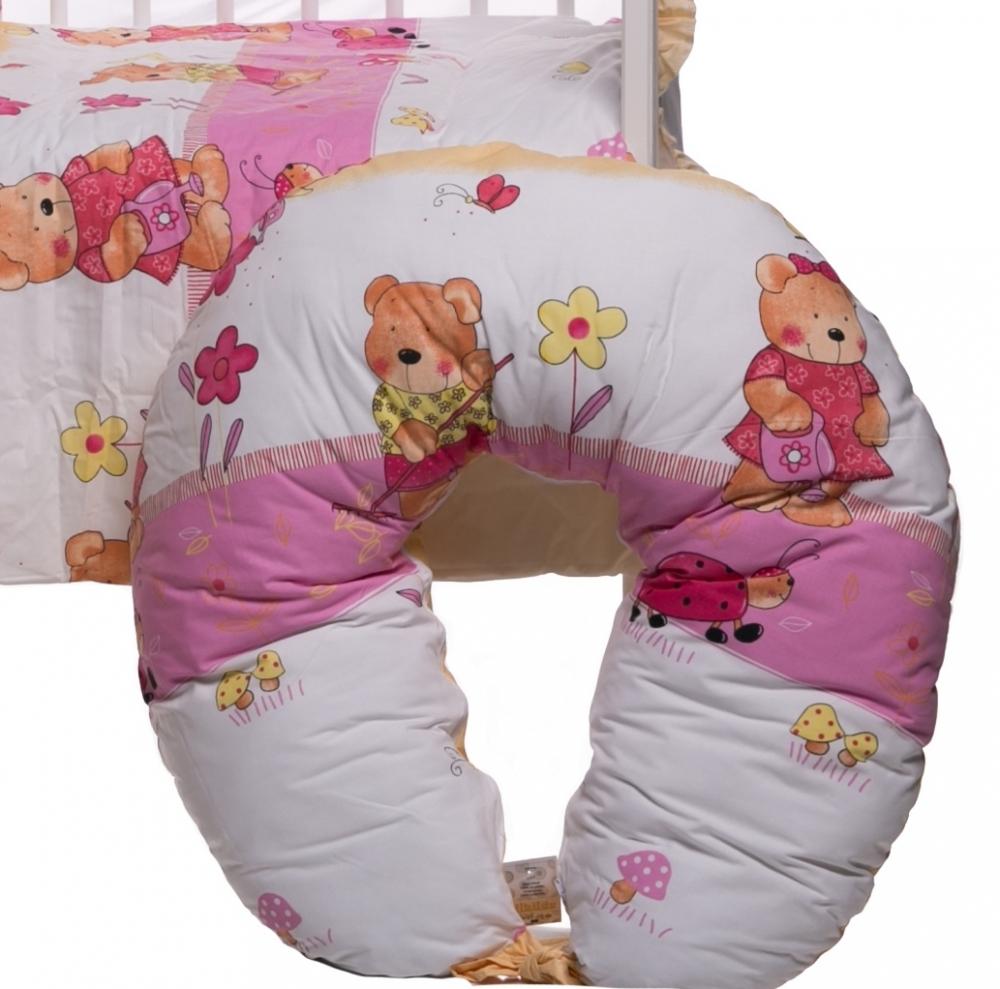 Lenjerie patut cu 10 piese Ursuletul fericit roz
