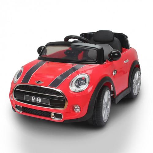 Masinuta electrica cu telecomanda Mini Cooper F56 12V Rosie