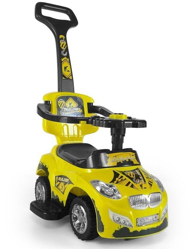 Masinuta pentru copii 3 in 1 Happy Yellow