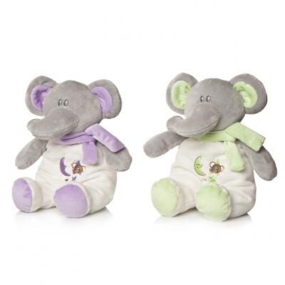 Plus Bebelusi Elefantel 28 cm cu zornaitoare (2 culori) - Artesavi