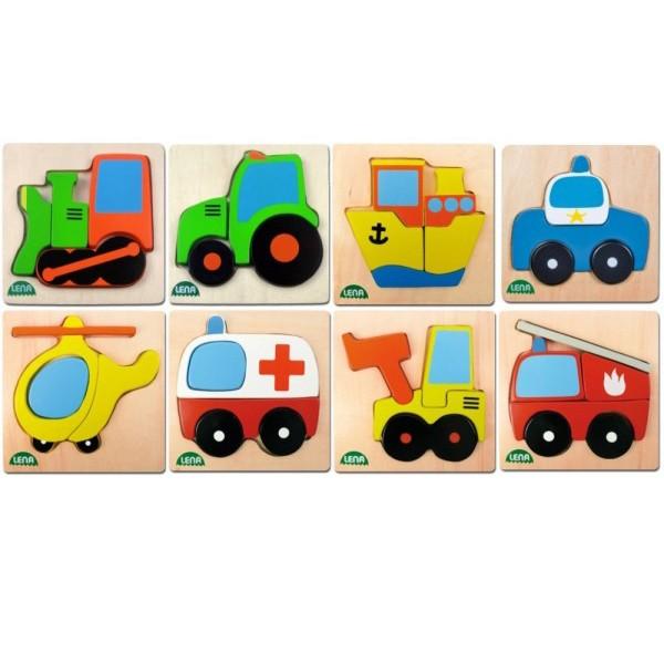 Puzzle din lemn Lena vehicul