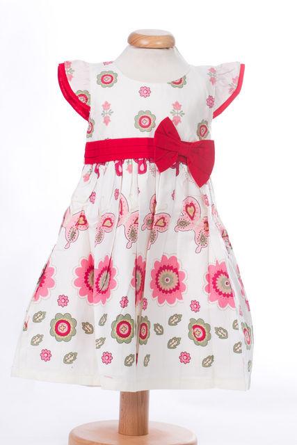 Rochita bebeluse cu imprimeu roz (Masura 80( 9-12 luni ))