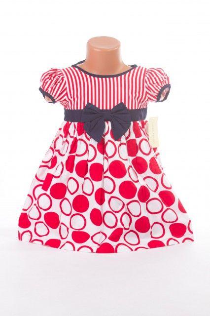 Rochita pentru fetite cu model cu buline rosii si albe (Masura 92 (1.5-2 ani))