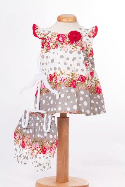 Rochita de bebeluse cu imprimeu cu trandafiri (Masura 62 (1-3 luni))