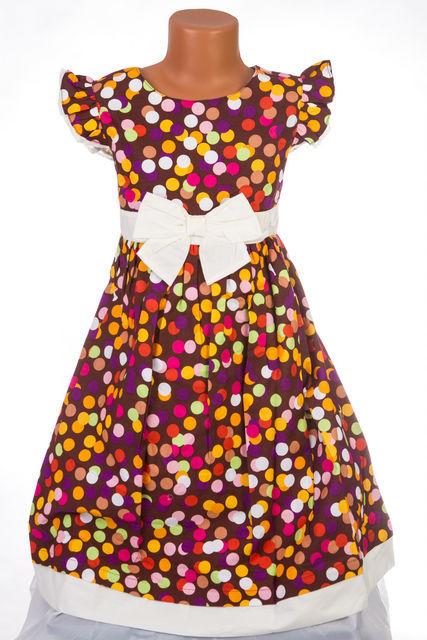 Rochita fete cu buline colorate (Masura 140 (9-10 ani))