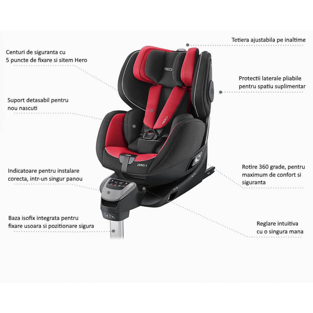 Scaun Auto pentru Copii Zero.1 R129 Performance Black