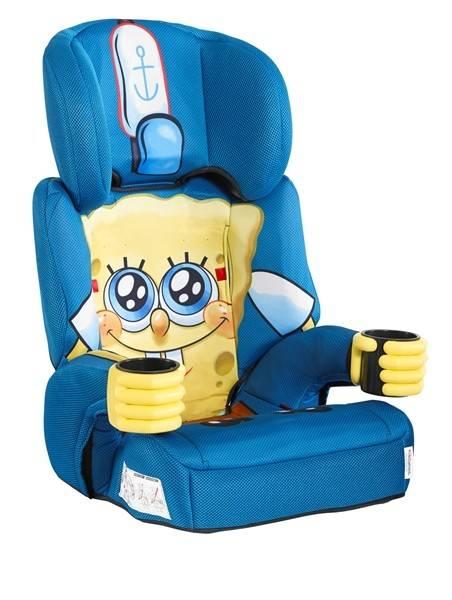 Scaun auto SpongeBob 9-36 kg Grupa 1,2,3, Kids Embrace