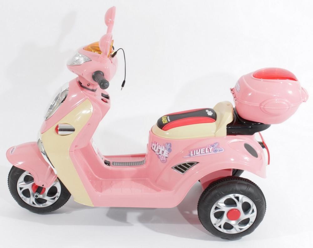 Scuter electric pentru fetite Roz