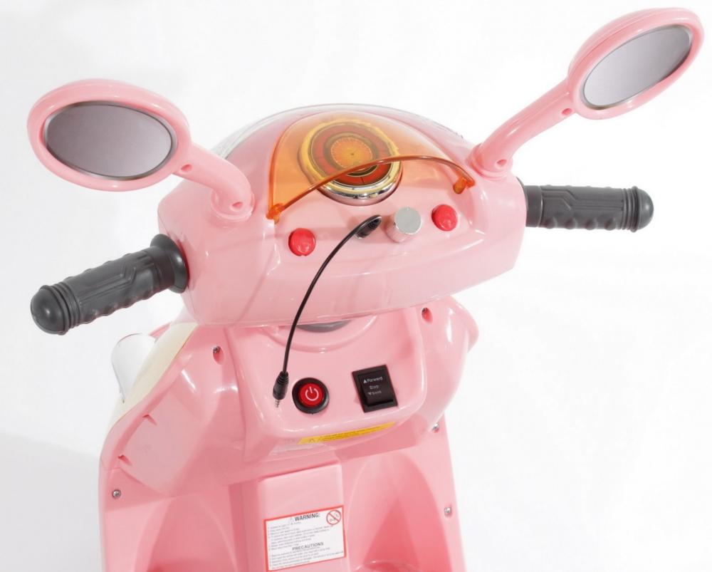 Scuter electric pentru fetite Roz - 1