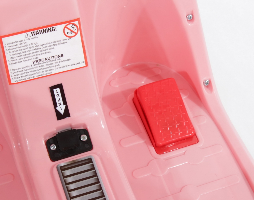 Scuter electric pentru fetite Roz - 2
