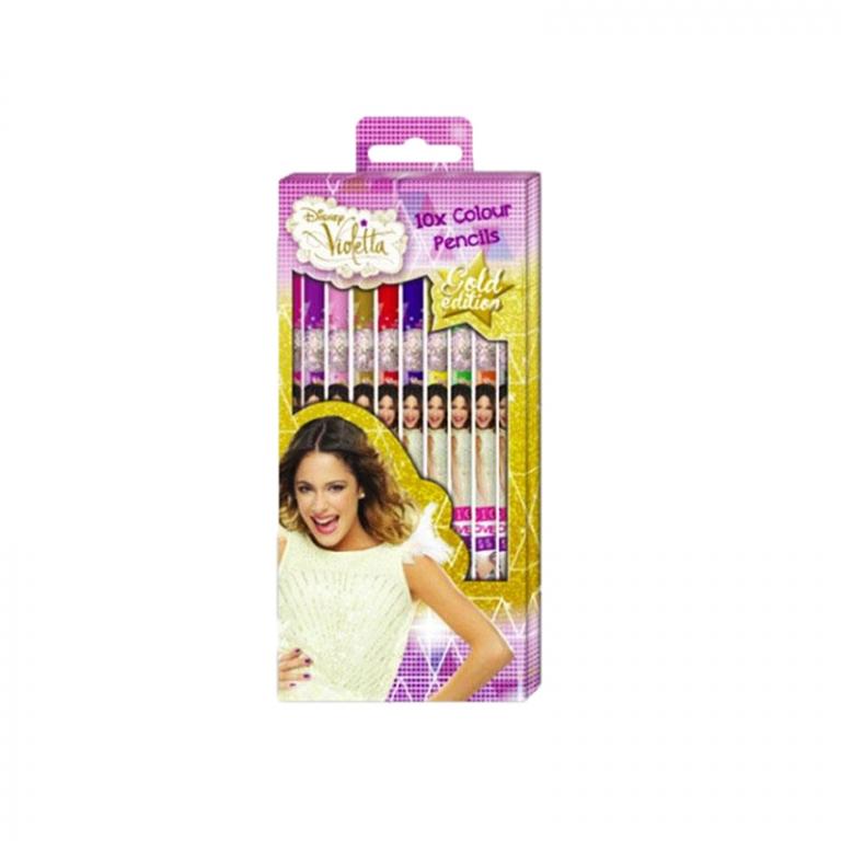Set 10 creioane colorate Violetta - Canenco