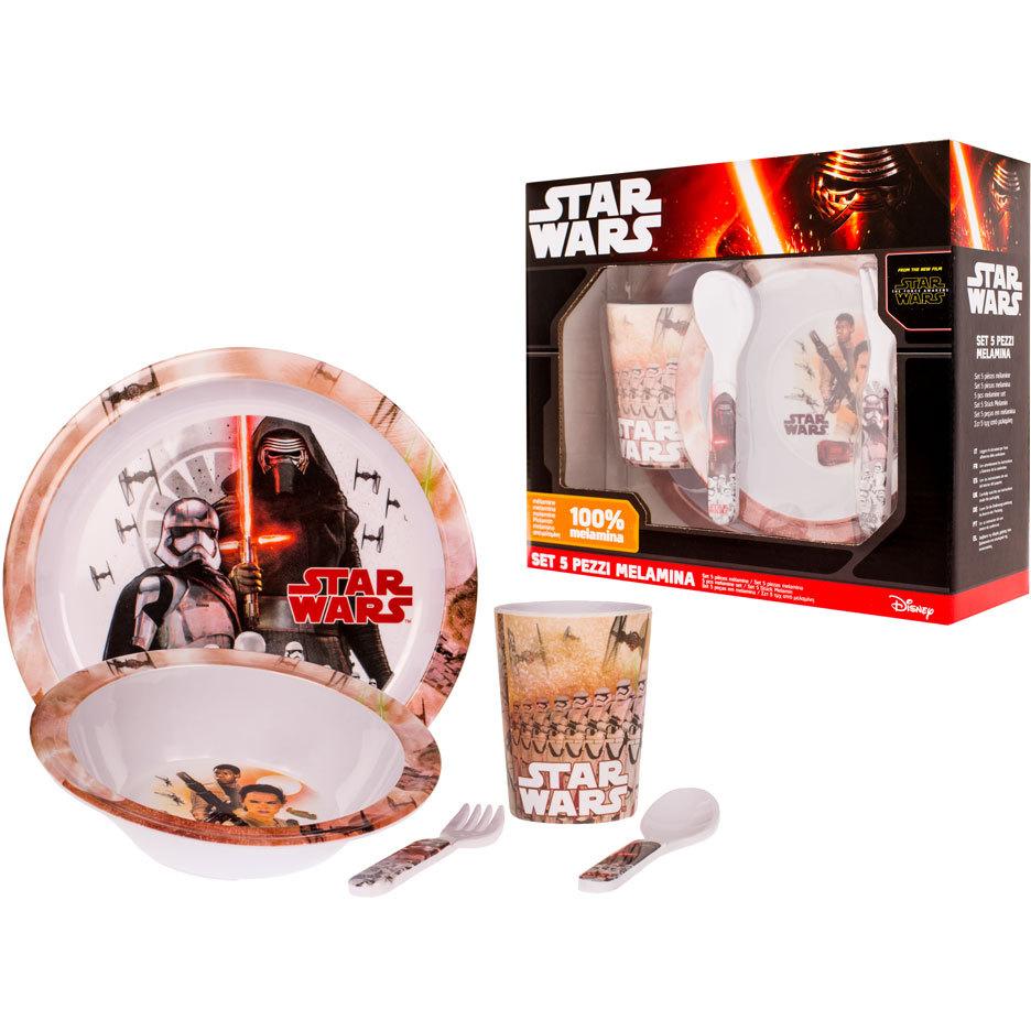 Set pentru masa melamina 5 piese Star Wars Lulabi 8340300 imagine