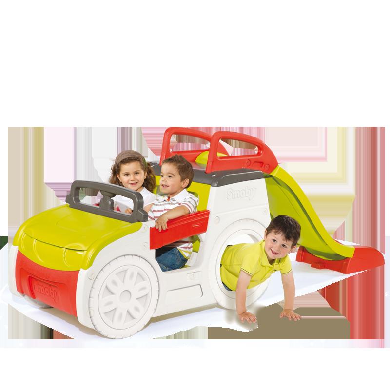Spatiu de joaca cu tobogan Adventure Car Smoby