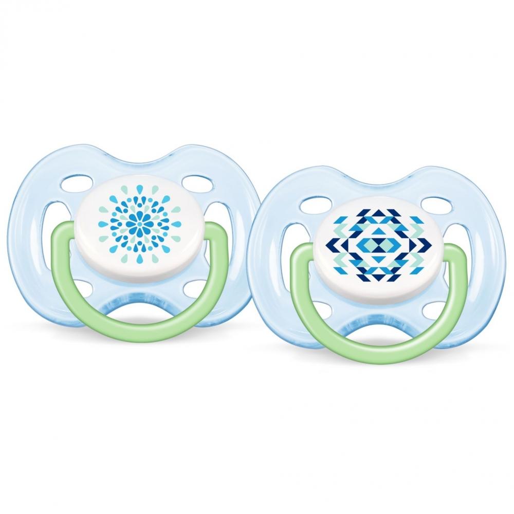 Suzete free flow Contemporan set 2 buc 0 - 6 luni nu contin BPA