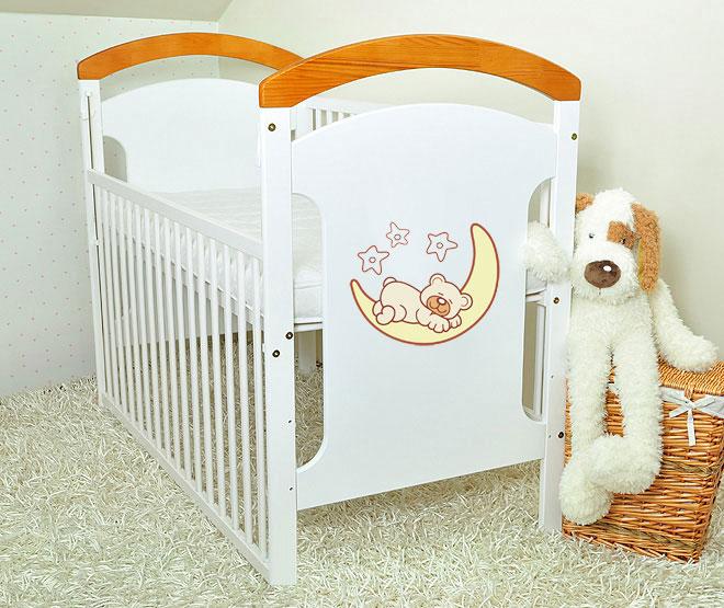 Patut din lemn Moon Bear cu laterala culisanta