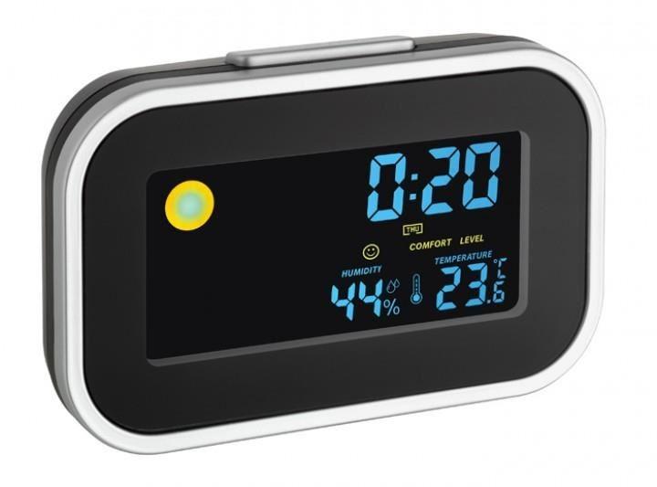 Termo-higrometru cu ceas si alarma iluminat TFA 60.2015