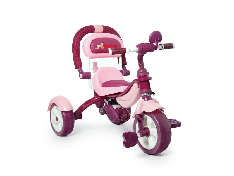 Tricicleta Pentru Copii Happy Trip KR03B Roz