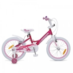 Bicicleta pentru fetite cu roti ajutatoare Byox Lovely 18 inch