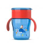 Cana Sunt mare 260 ml supapa anti-scurgere 12 luni + Rosu/Albastru