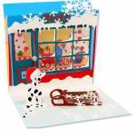 Felicitare 3D Treasure pentru iarna-Magazin de jucarii
