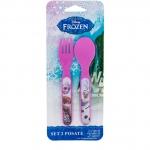 Set lingurita si furculita plastic Frozen Lulabi 8006300