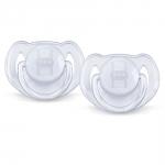 Suzete transparente set 2 buc 6 - 18 luni nu contin BPA