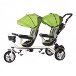 Tricicleta pentru doi copii Skutt Esseda Duo Green
