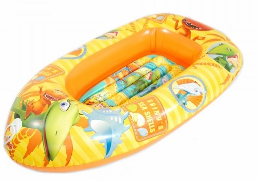 Barca gonflabila 110cm Saica Dino Train imagine
