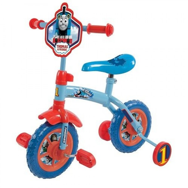 Bicicleta copii Thomas and Friends 10 inch 2 in 1 cu si fara pedale imagine