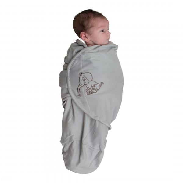 Body Special Tip Wrap Bo Jungle Elefant Gri Pentru Bebelusi Marime S (3-6kg) Din Bumbac