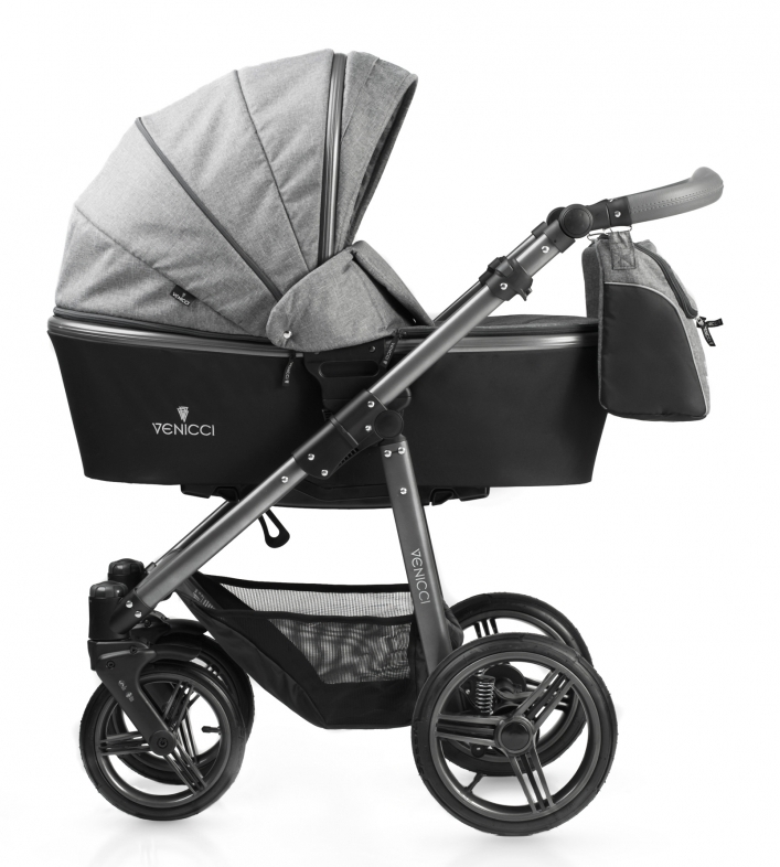 Carucior 3 in 1 Venicci Carbo Denim Grey
